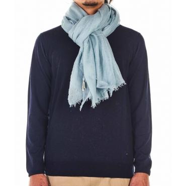 Sciarpa leggera in cashmere azzurro