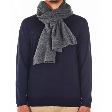 Sciarpa in cashmere grigio