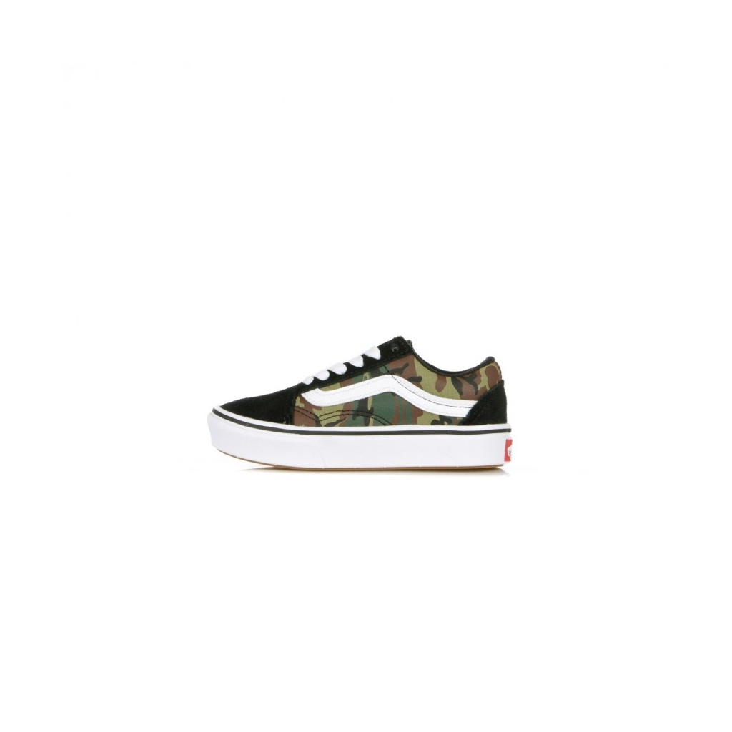 SCARPA BASSA COMFYCUSH OLD SKOOL WOODLAND CAMO BLACK/TRUE WHITE