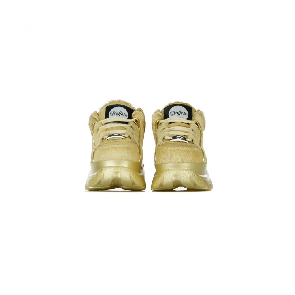 SCARPA BASSA BUFFALO CLASSIC GOLD METALLIC FUR