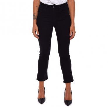 Jeans denim trombetta BLACK