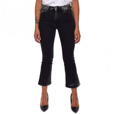 Jeans trombetta marmorizzato BLACK