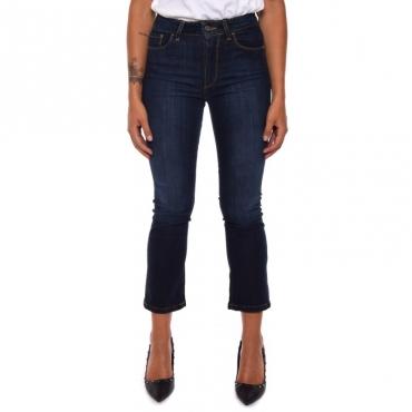 Jeans denim trombetta BLUE DARK