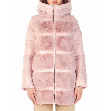 Cappotto in Eco-Down pink