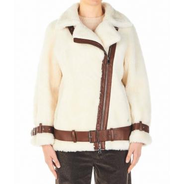 Giacca Colleen in eco-pelliccia bianco