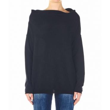 Maglione a maglia nero