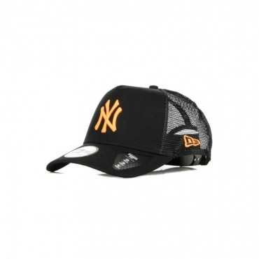CAPPELLINO VISIERA CURVA MLB DIAMOND ERA A-FRAME TRUCKER NEYYAN BLACK/NEON ORANGE