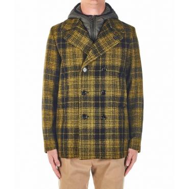 Cappotto con inserto giacca rimovibile giallo