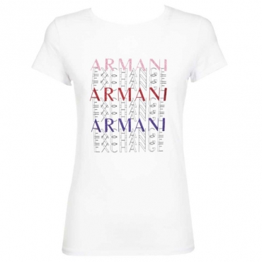 T-shirt con logo lettering multicolor 1000