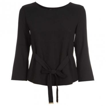 Blusa in crepe con cintura 1200