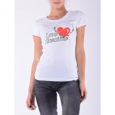 T-shirt stampa fitness BIANCO