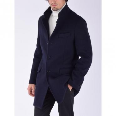 Cappotto jersey lana BLU