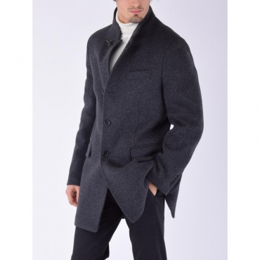 Cappotto jersey lana ANTRACITE