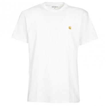 T-Shirt S/S Chase con logo WHITE/GOLD