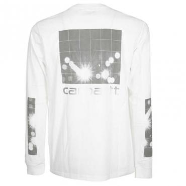 T-Shirt L/S Reflective Headlight WHITE/REFLEC