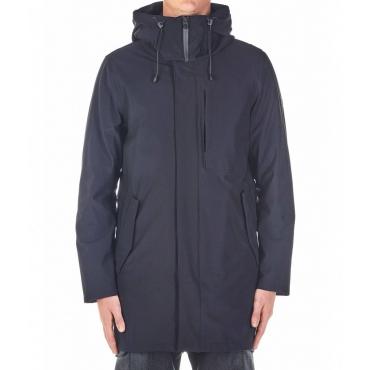 Cappotto con inserto giacca rimovibile nero