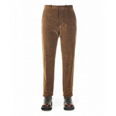 Pantaloni di velluto a coste Nikolas marrone