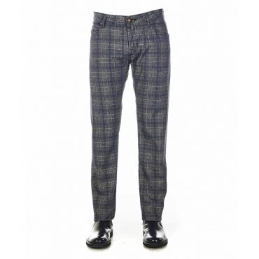 Pantaloni chino a quadri grigio