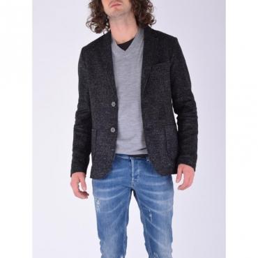 Blazer tv check wool CARBONE