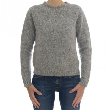 Maglieria - D11001 maglia giro cotone alpaca 18 - Grigio