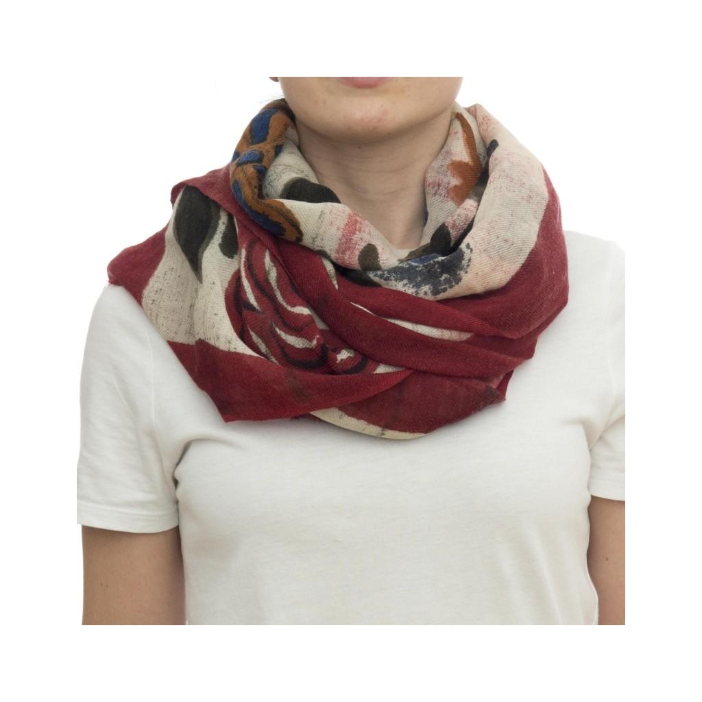 Sciarpa - Ortensia 7200  70 x 180  100 wool dipinda a mano