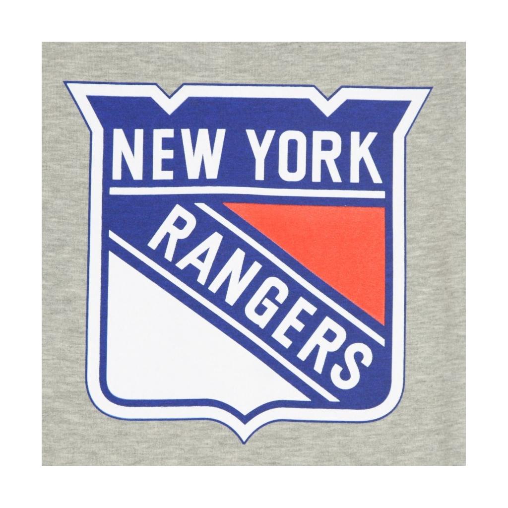 FELPA GIROCOLLO NHL ICONIC PRIMARY COLOUR LOGO GRAPHIC CREW SWEATSHIRT NEYRAN HEATHER GREY/ORIGINAL TEAM COLORS