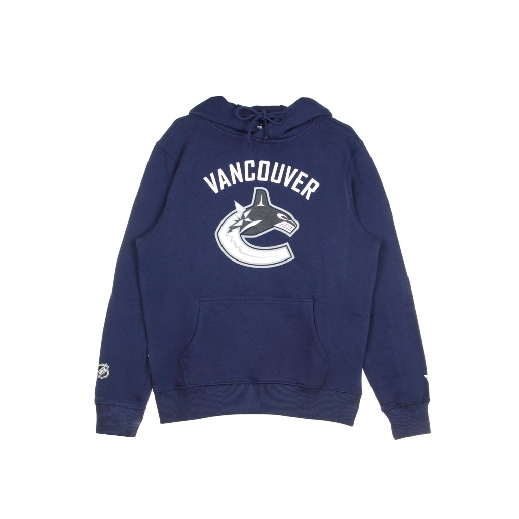FELPA CAPPUCCIO NHL ICONIC PRIMARY COLOUR LOGO GRAPHIC HOODIE VANCAN ORIGINAL TEAM COLORS