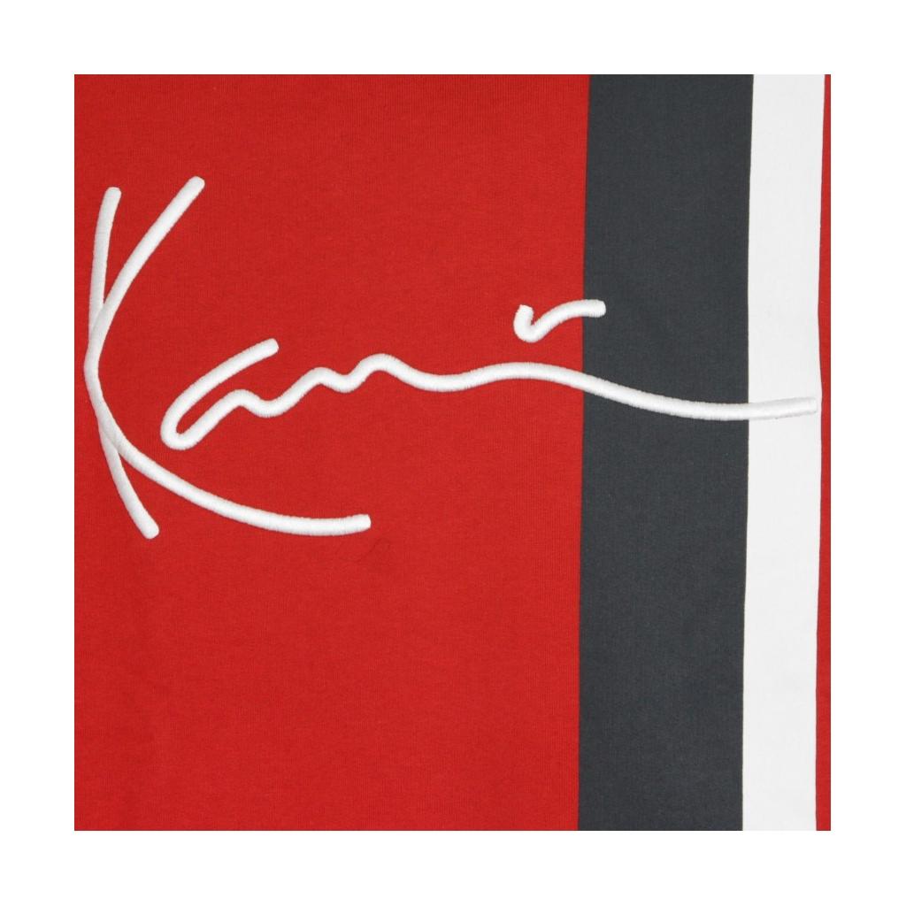 FELPA CAPPUCCIO SIGNATURE BLOCK HOODIE DARK RED/NAVY/OFF WHITE