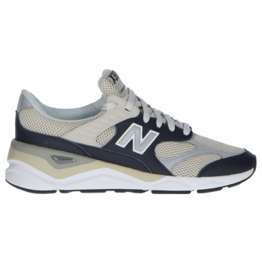 Scarpa New Balance Uomo Lifestyle Leather Mesh NAVY SILVER GREY