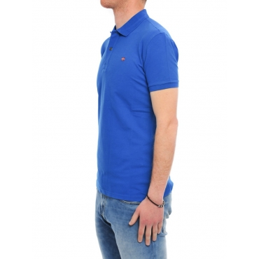 Polo Napapijri Uomo Mezza Manica Stretch B33 ROYAL
