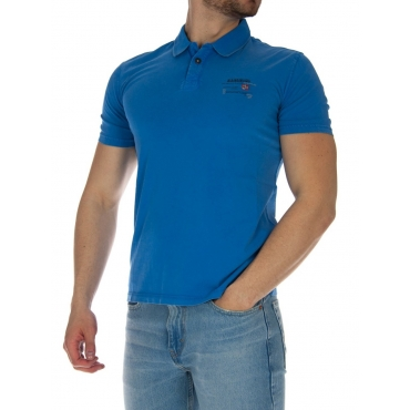 Polo Napapijri Uomo Jersey BC2 LIGHT BLU