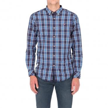 Camicia Napapijri Uomo Check Goayo 12C BLUE CHECK