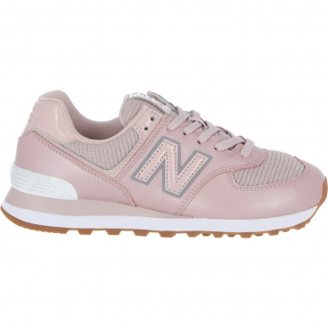 Scarpa New Balance Donna 574 Pmb Metallic Leather LF PMB TAN ROSE