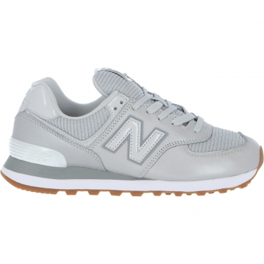Scarpa New Balance Donna 574 Pma Metallic Leather LF PMA GREY