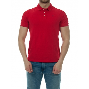 Polo Uomo Tommy Hilfiger Jeans Piquet Classic 683 RACING RED