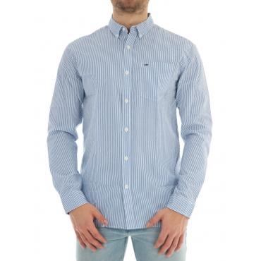 Camicia Tommy Hilfiger Uomo Classic Stripe 902 WHITE BLUE