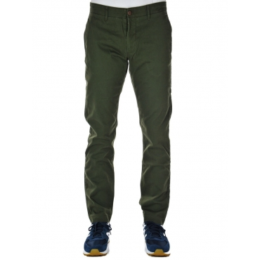 Pantalone Tommy Hilfiger Jeans Uomo Chino Slim Essent 397 FOREST NIGHT