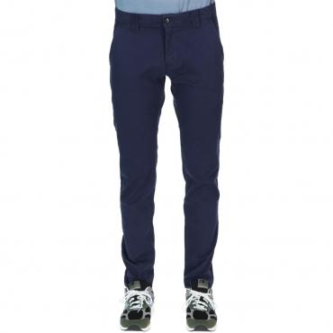 Pantalone Tommy Jeans Uomo Scanton Cotone Chino Slim 002 BLACK IRIS