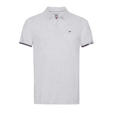 Polo Tommy Hilfiger Jeans Piquet Stretch Slim Fit PPP PALE GREY