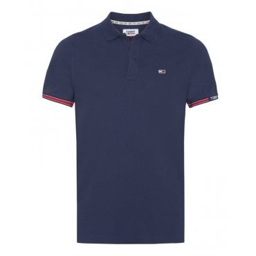 Polo Tommy Hilfiger Jeans Piquet Stretch Slim Fit C87 TWILIGHTNAVY
