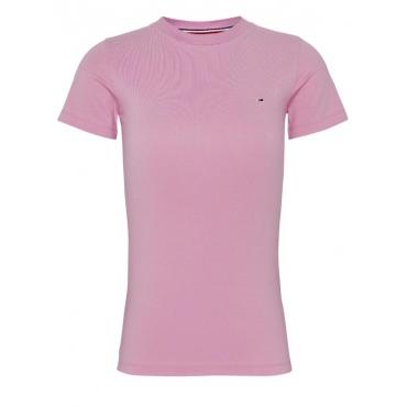 T-shirt Tommy Hilfiger Donna Crew Stretch TOU PINK DAISY