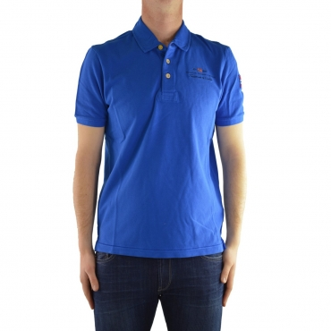 Polo Napapijri Uomo Mezzamanica B31 BLUE REBEL