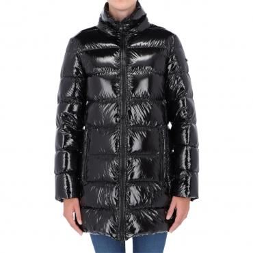 Giacca Refrigiwear Donna Long Ellis Piuma Laccato BLACK