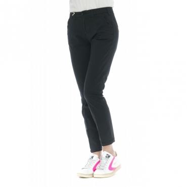 Pantalone donna - Briana 4272 skinny vita alta microperato W1909