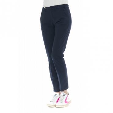 Pantalone donna - Briana 4272 skinny vita alta microperato W1738 - Blu