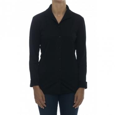 Camicia donna - J fidra 75460 camicia jersey active 998 - Nero
