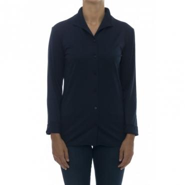 Camicia donna - J fidra 75460 camicia jersey active 789 - Blu