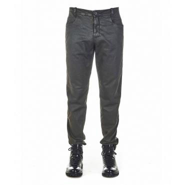Pantaloni con spalmatura grigio