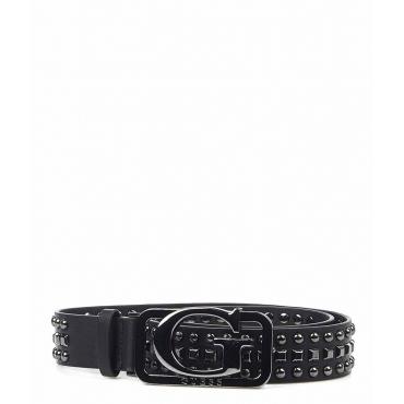 Cintura con rivetti nero