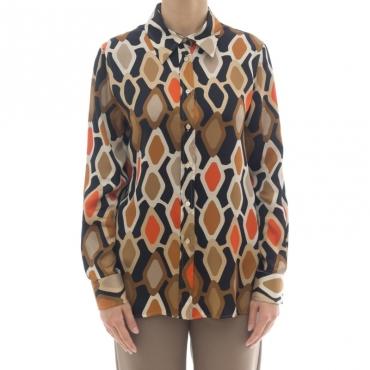 Camicia donna - J2023/r camicia stampa 003 - Nero